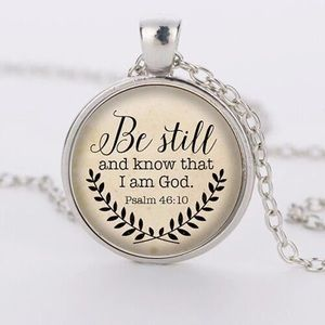 Jewelry - 🌟4/$20🌟 Be Still and Know Necklace Bible Verse